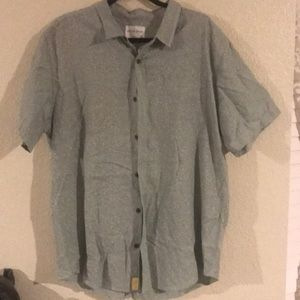 On the byas short sleeve collared shirt green